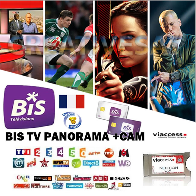 bis tv panorama 12 months viewing card viaccess cam 4 0 bundle french tv ebay. Black Bedroom Furniture Sets. Home Design Ideas